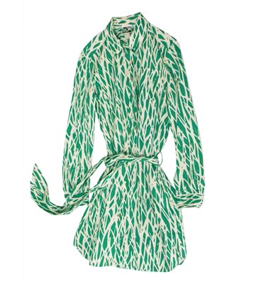 furstenburg green dress